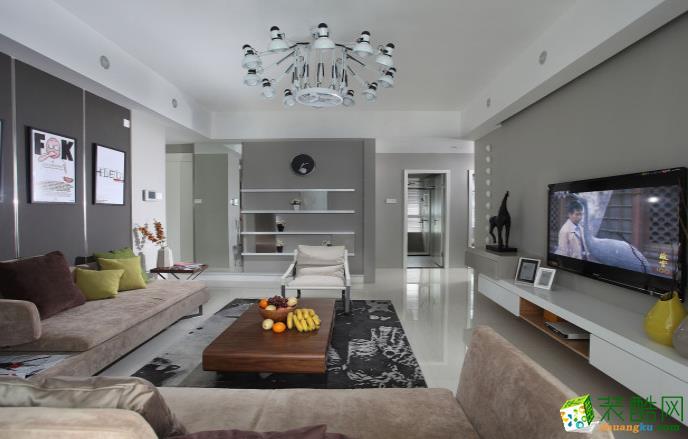 常州100平三室簡約風格裝修效果圖-啄木鳥裝飾