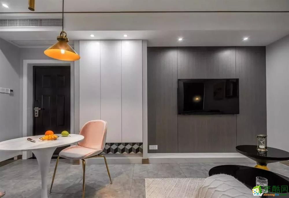 西安91平米现代风格两室两厅装修效果图片