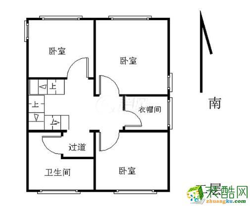 阿卡迪亚联排别墅130�O新中式风格设计案例