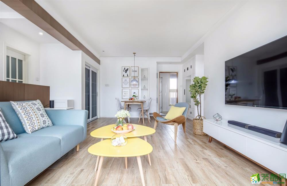 北欧风格115平三居室装修效果图