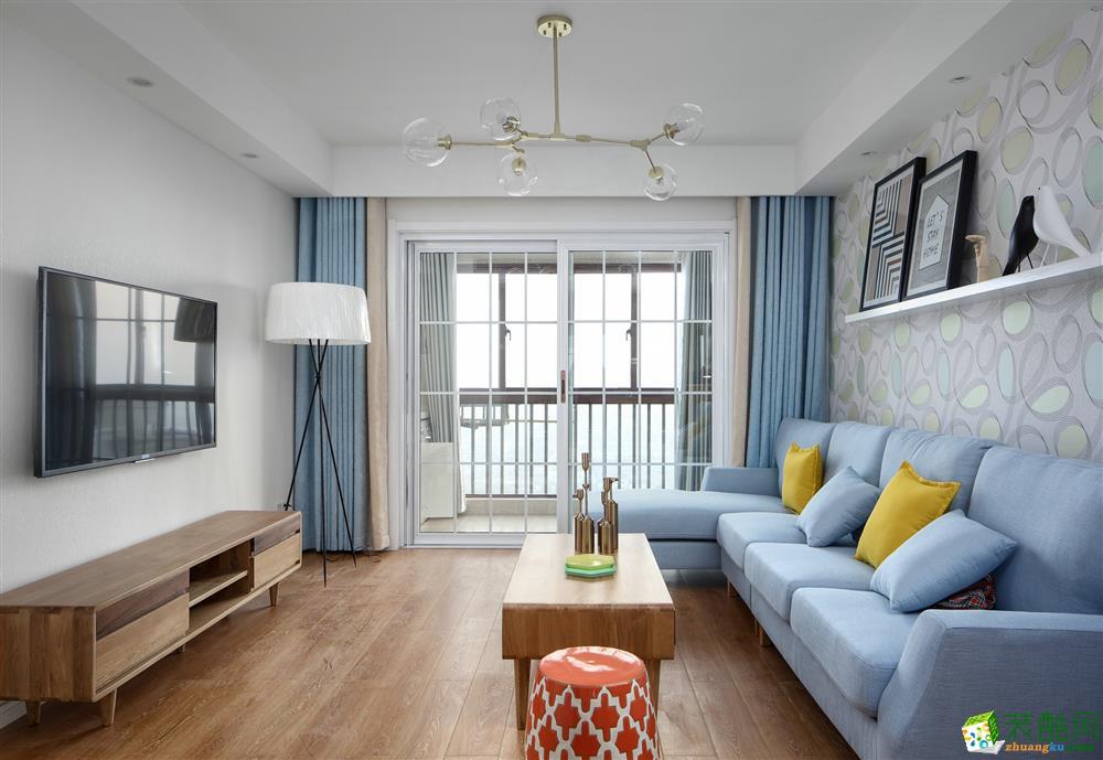 南充88平米简欧风格三室两厅装修效果图