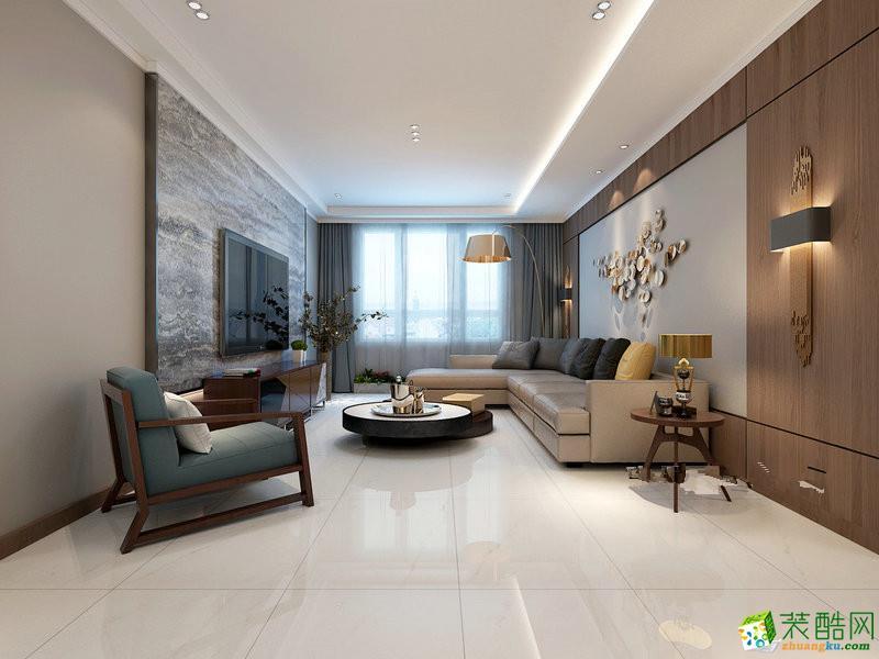 太原古寨小区130平米现代简约风格三室两厅两卫装修效果图片