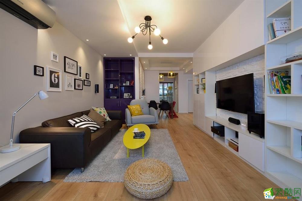 现代简约二居室90平装修效果图