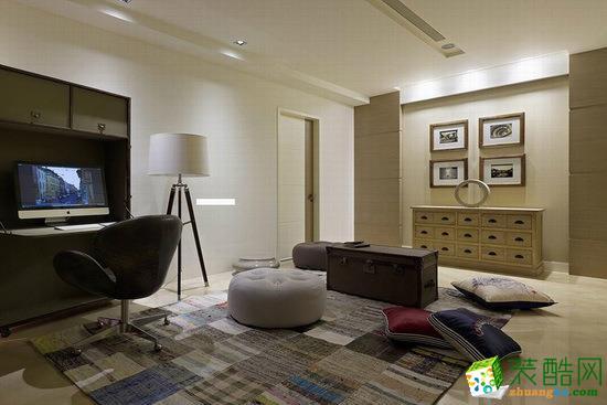 现代风格120平二居室装修效果图