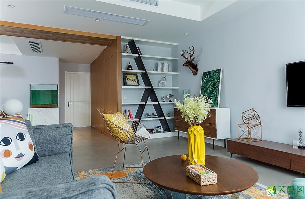 北欧风格120平三居室装修效果图