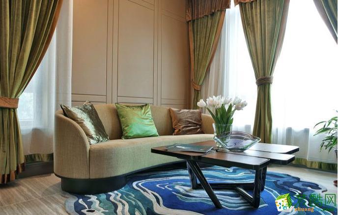 六安123㎡四室新古典風格裝修效果圖-東箭裝飾
