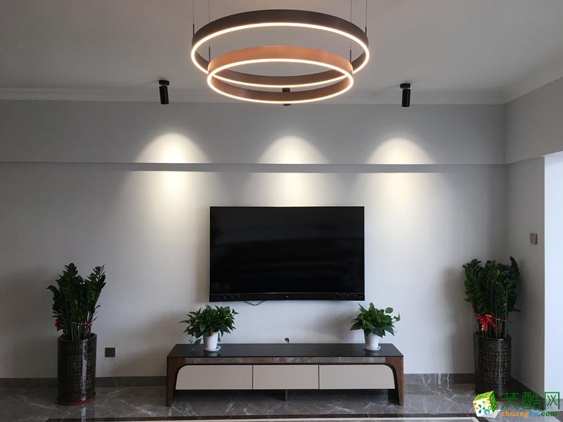 110平三居室现代简约风格装修效果图