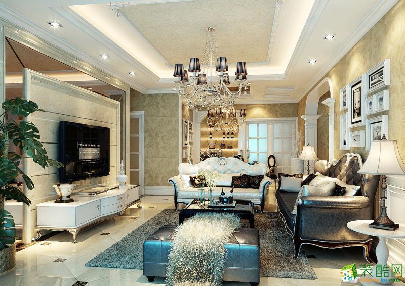 成都120平米现代简约风格三居室装修案例图