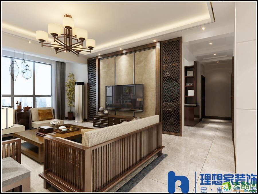 120平米四居室中式风格装修效果图
