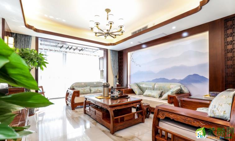 南昌雅安居装饰-120平中式四房装修案例效果图