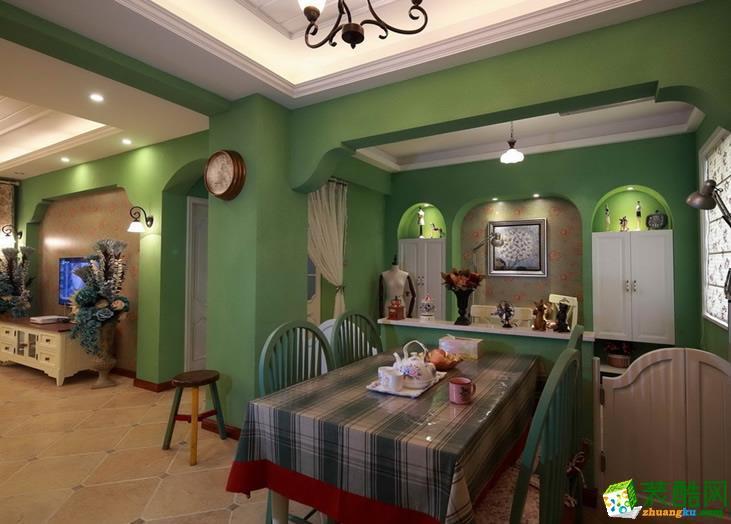 【建品装饰】渝高香州72平米田园风格两居室装修案例图