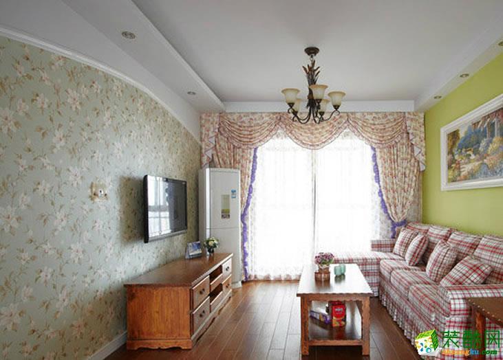【建品装饰】阳光花园95平米田园风格三居室装修案例图