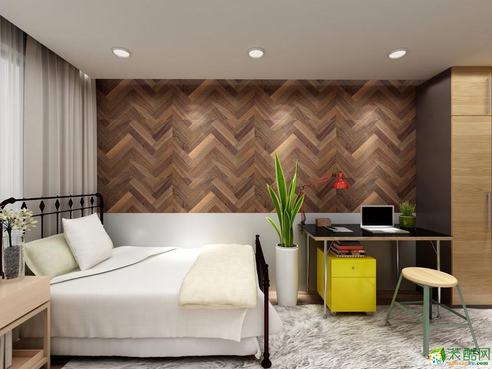 长沙115平米2室1厅1卫1厨北欧风格效果图
