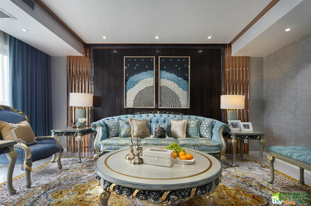 沈阳万科柏翠园-157平米欧式风格三室两厅两卫装修效果图片
