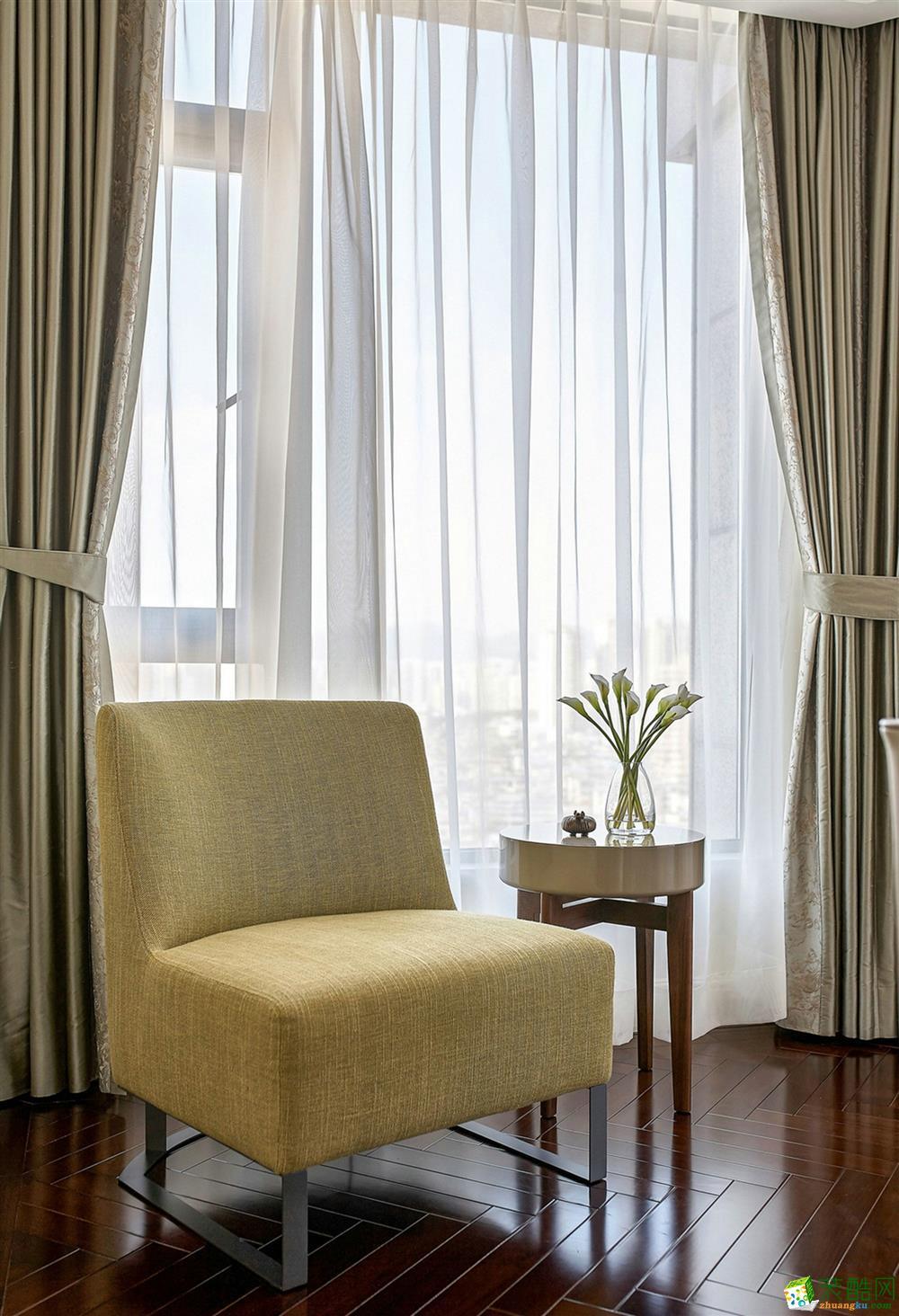 苏州白塘壹号128�O欧式三室设计案例