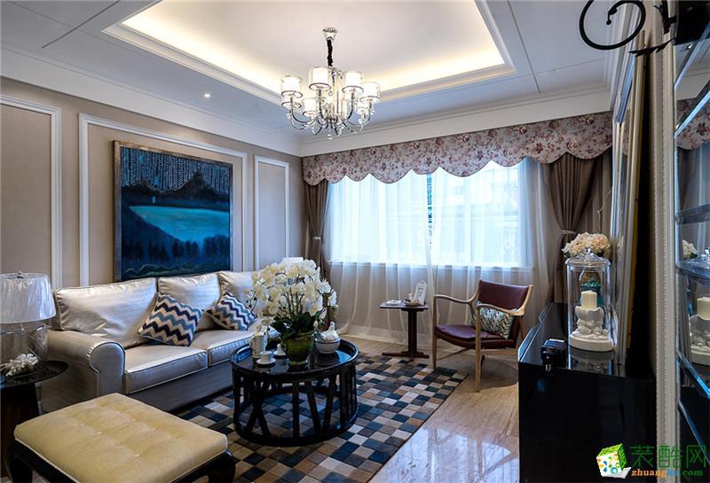 110平米美式风格-3室2厅装修效果图