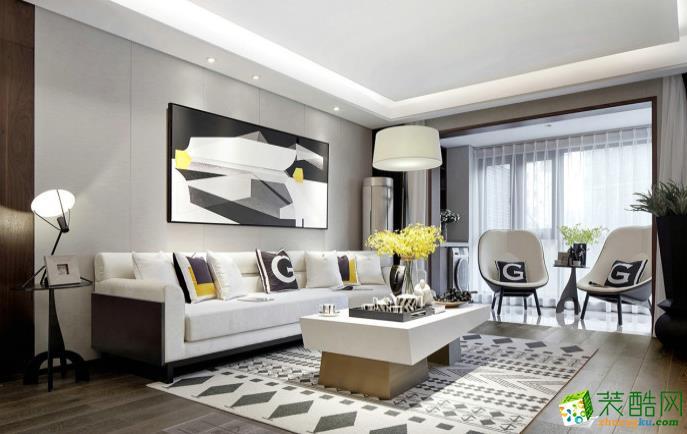 常州148平四室现代风格装修效果图-星福装饰
