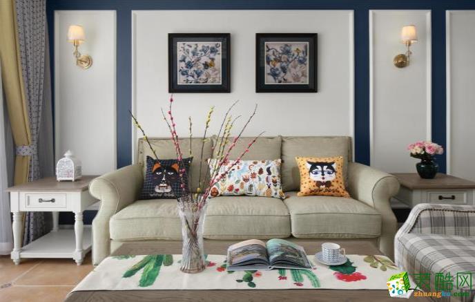 常州110�O三室美式风格装修效果图-星福装饰