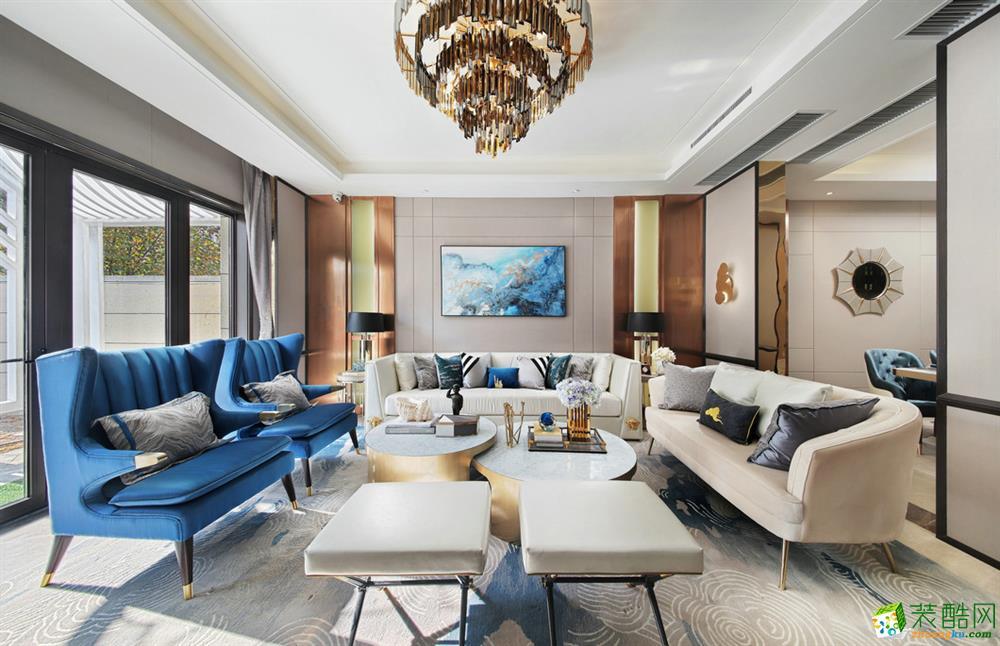 200�O四居室美式风格装修效果图_美式风格-四室两厅两卫
