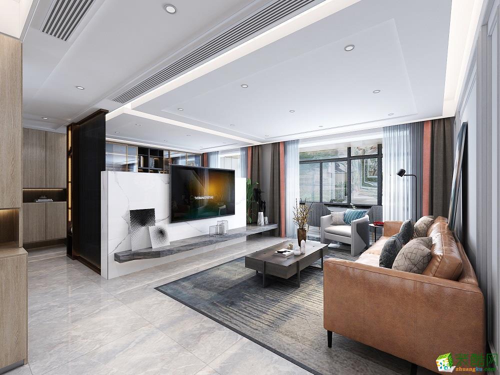 西安现代四居室144�O装修效果图片