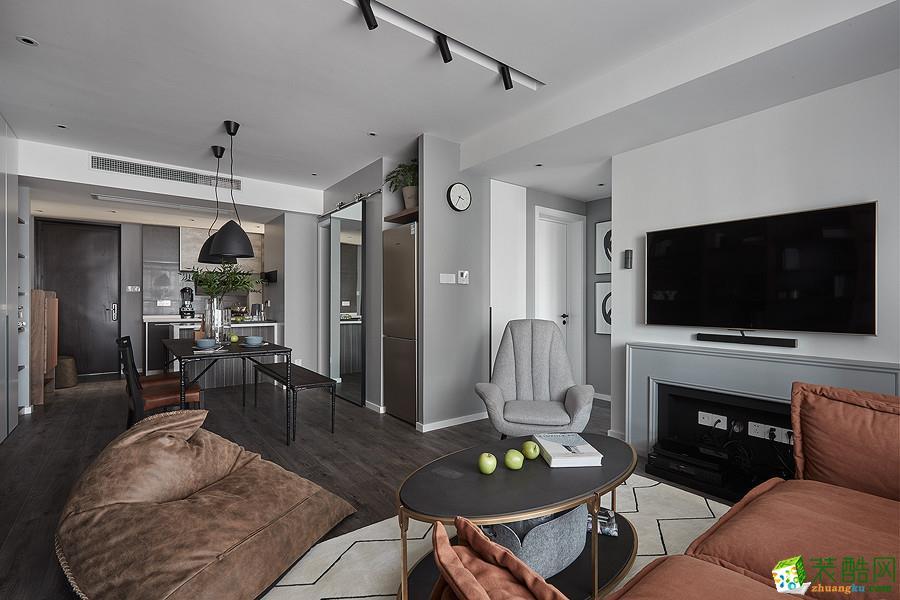 98平米三居室北欧风格装修效果图