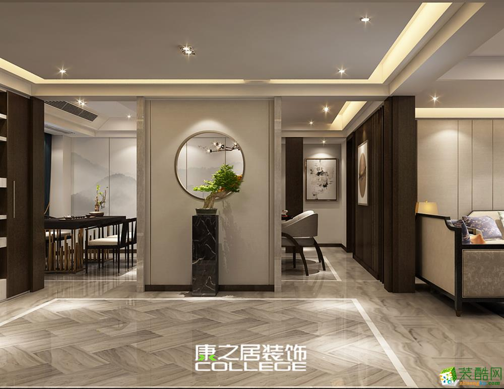 高知公寓140平米三房中式设计效果图案例