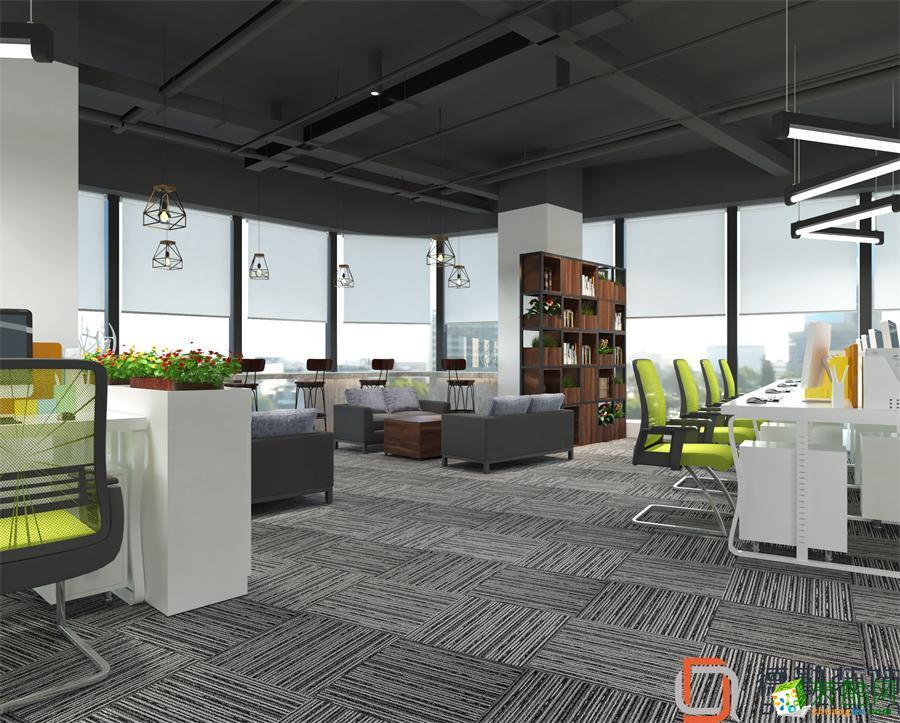 长虹科技大厦320平米办公室现代风格装修