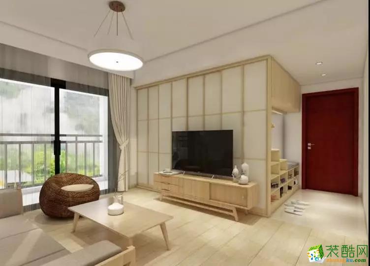 乌鲁木齐91平米日式风格三室两厅装修效果图