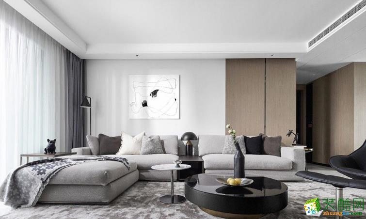 福州生活家裝飾-140平現代三房裝修案例效果圖