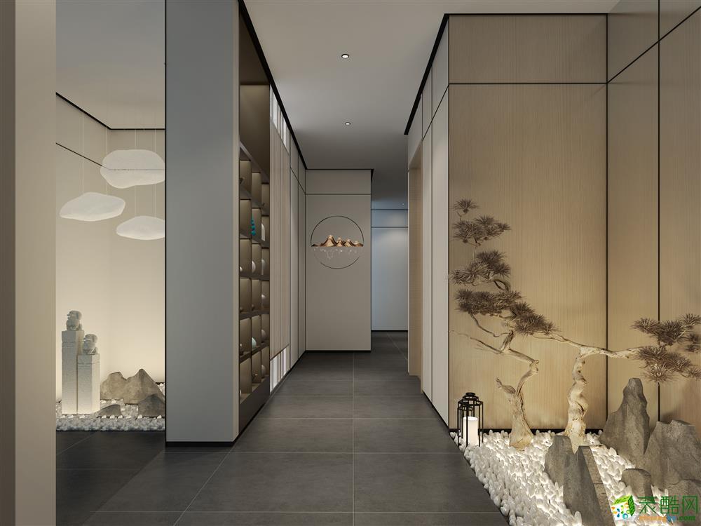 300平中式风格茶室装修效果图