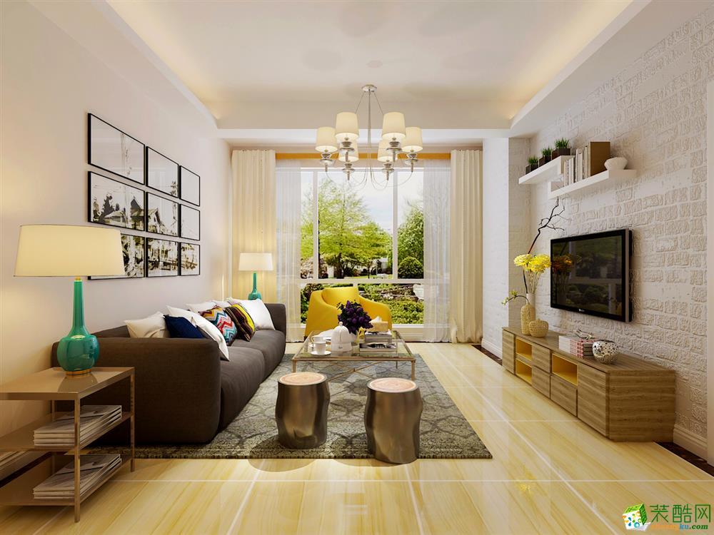 青岛95平米现代简约风格三居室装修