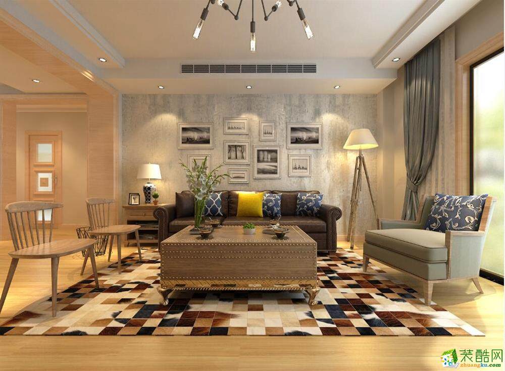 青岛270平米简美风格别墅装修效果图