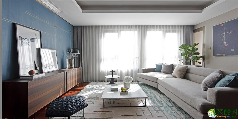 86平米三居室現代風格裝修案例圖