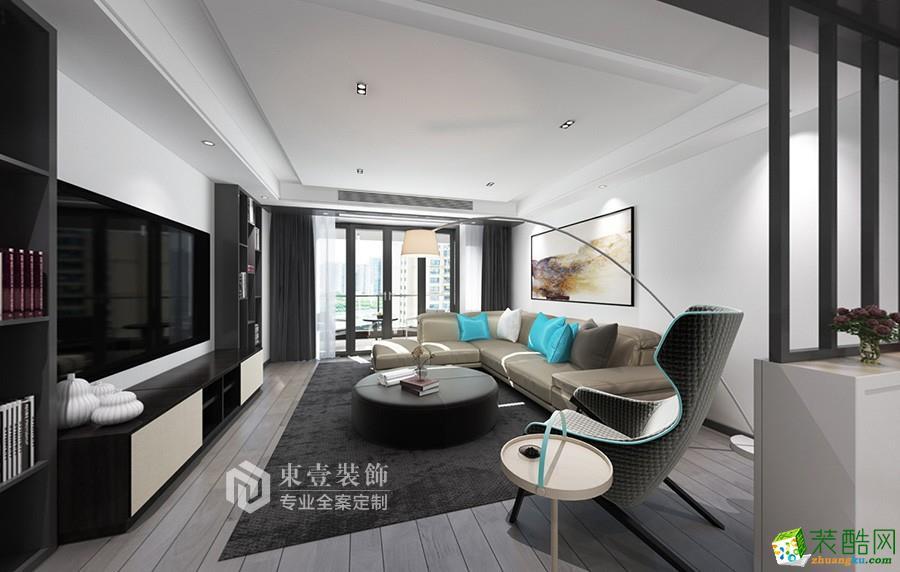 華豐星城120㎡現代極簡風格設計案例