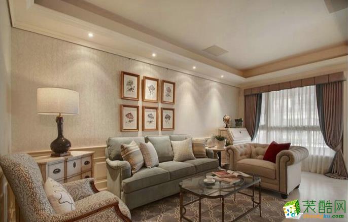 万州125�O三室美式风格装修效果图-江桥装饰