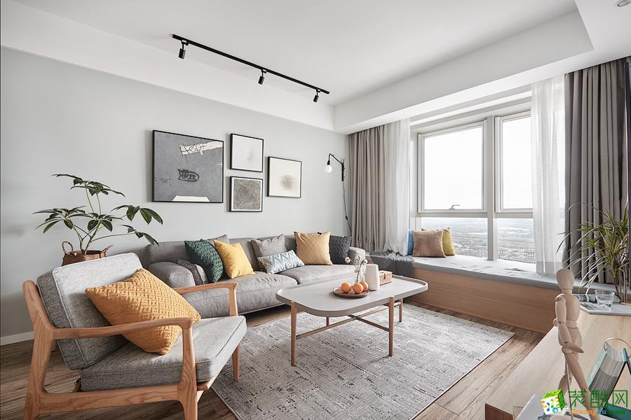 广州90平米北欧风格两室两厅装修效果图
