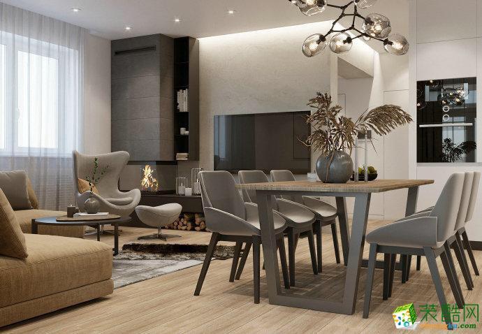 广州137平米北欧风格四居室装修效果图