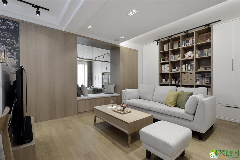 西安金泰财富中心80�O 二居室北欧风格装修效果图