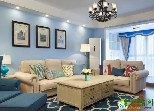 现代简约74平二居室装修效果图