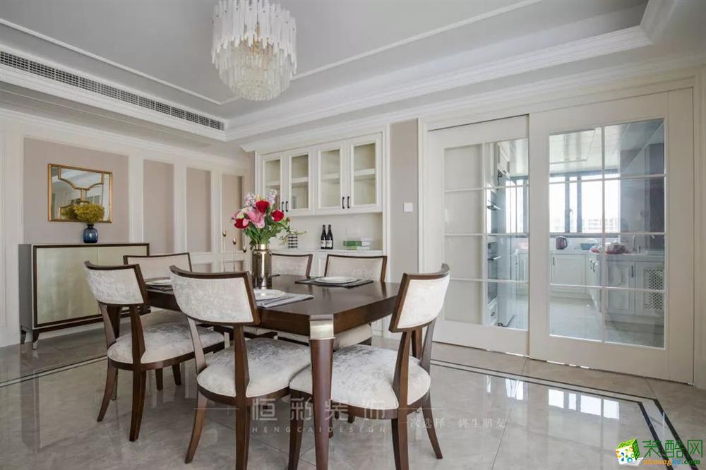 杭州154㎡三室兩廳,歐式簡化打造儒雅空間