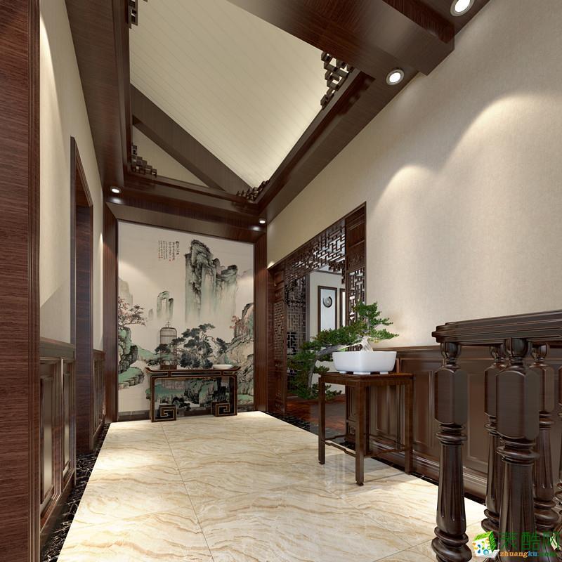 成都三利麓山城350平新中式风格装修效果图