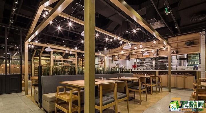 西安辛辣派餐廳900平現代風格裝修效果圖