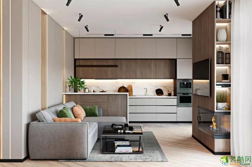 蘇州簡約風現代公寓,隱形燈帶打造高級感