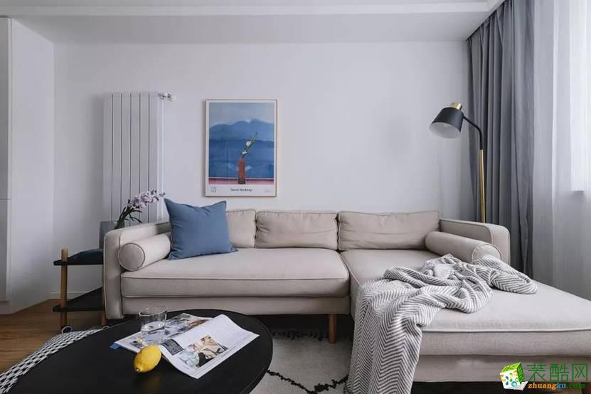 武汉70�O简约北欧风格两居室设计案例