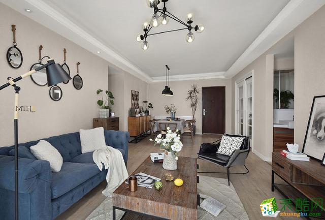 西安陽光臺120平米混搭風格四室兩廳兩衛裝修效果圖片