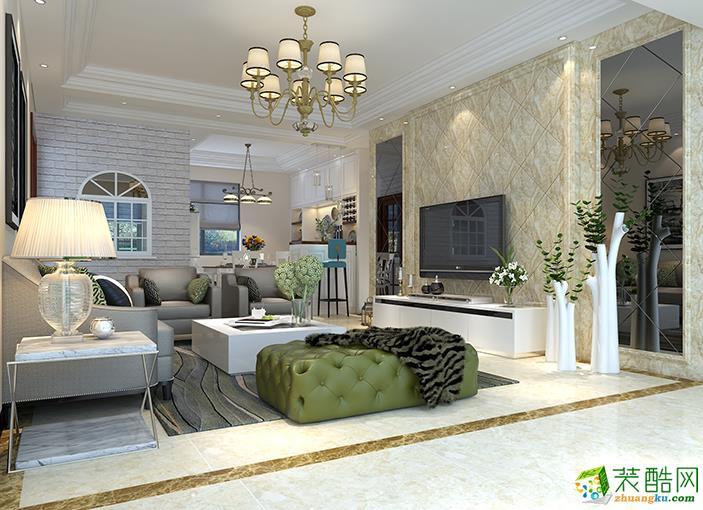 海口130平米全包現代風格三室兩廳裝修效果圖