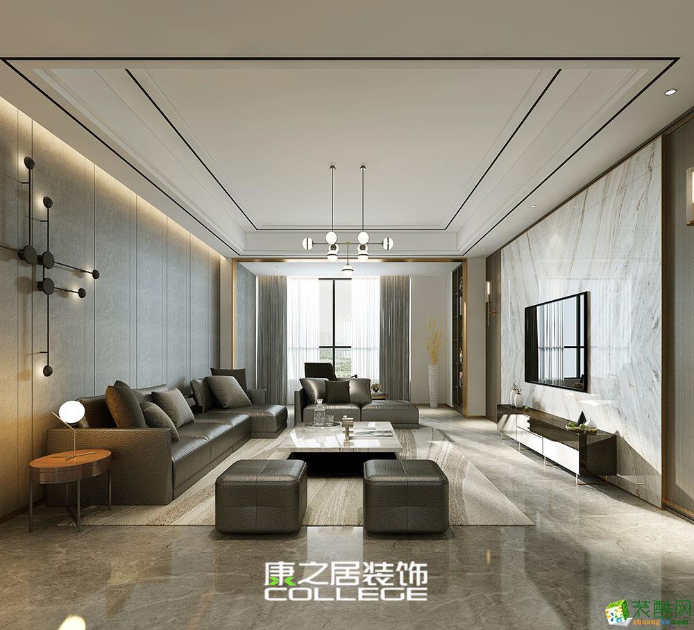南昌万达城125平米三房现代装修设计效果图(