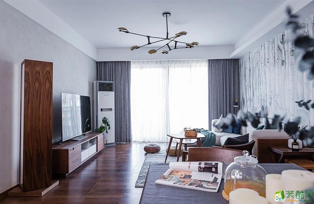 重庆110平米北欧风格三室两厅装修效果图