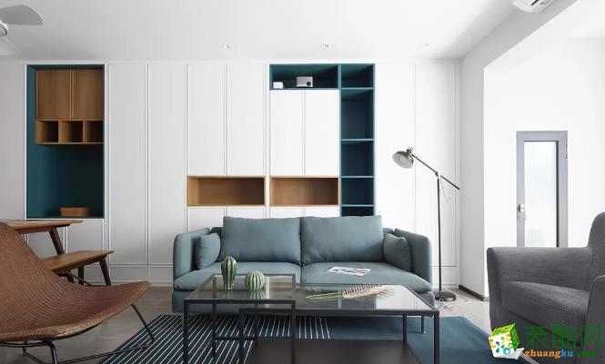 沈陽美的城-130平米北歐風格三室兩廳兩衛裝修效果圖片