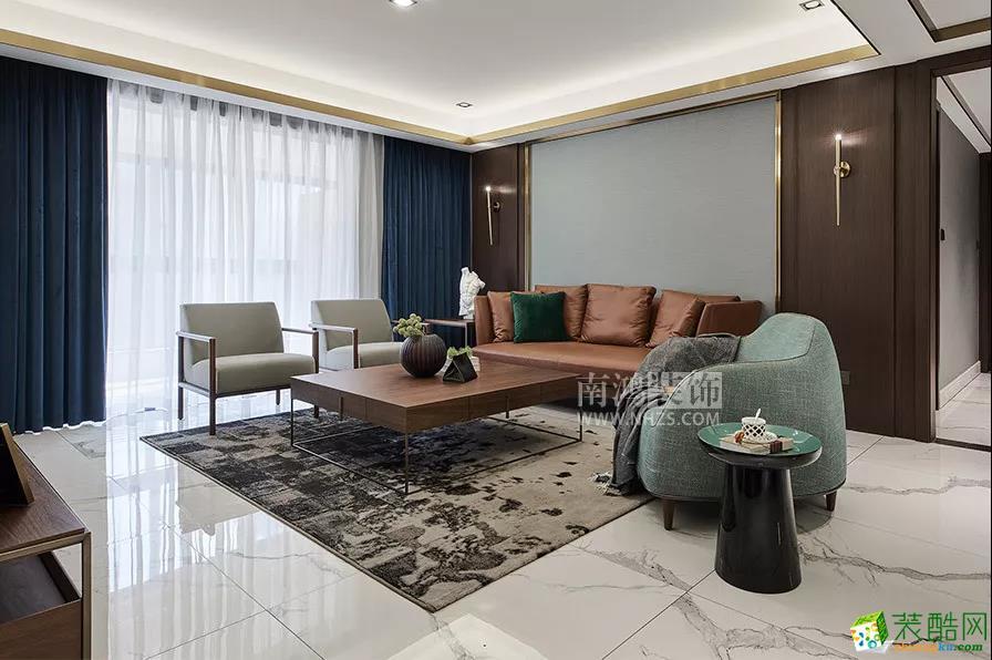 |南鸿装饰|国悦府187方现代轻奢风格_中式风格-四室两厅两卫